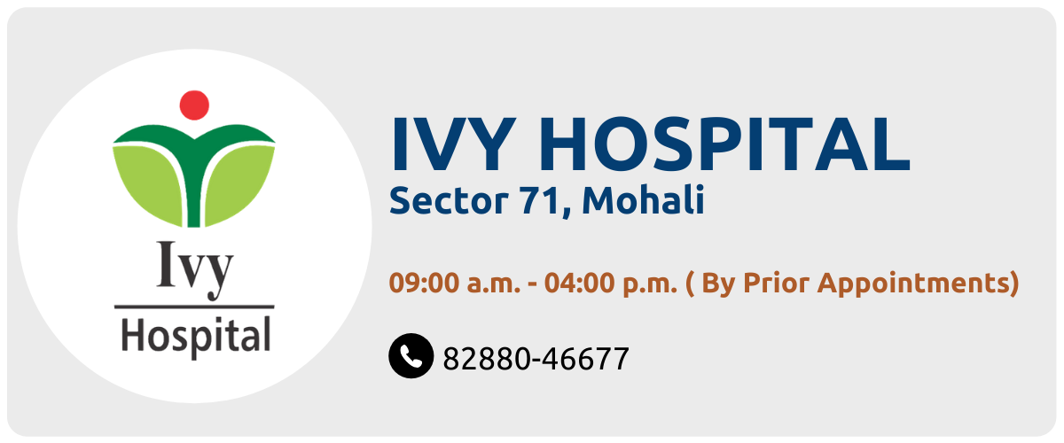 Schedule an Appointment at Ivy Hospital, Mohali